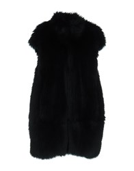 Atos Lombardini Coats And Jackets Faux Furs Dark Blue