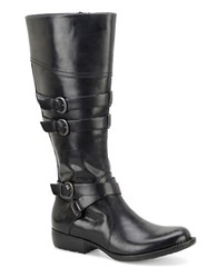 Born Odom Buckle Riding Boots Black