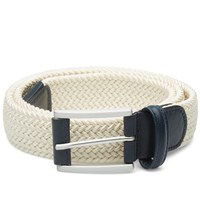 Andersons Anderson's Woven Textile Belt Off White