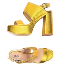 Jolie By Edward Spiers Sandals Yellow