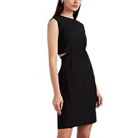 Helmut Lang Strap Detailed Cutout Shift Dress Black
