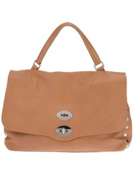 Zanellato Studded Satchel Brown