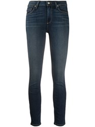Paige High Rise Skinny Jeans Blue