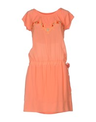Via Delle Perle Vdp Club Short Dresses Salmon Pink