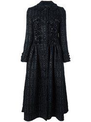 Simone Rocha Embellished Princess Coat Black