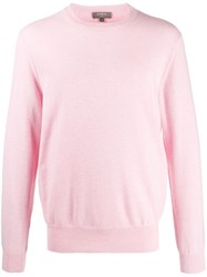 N.Peal The Oxford Crew Neck Jumper Pink