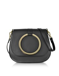 Le Parmentier Handbags Black Smooth Leather Shoulder Bag