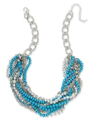 Thalia Sodi Chain Link Statement Necklace Created For Macy's Turquoise