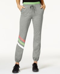 Jessica Simpson The Warm Up Juniors' Logo Jogger Pants Harvard Grey