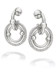 Folli Follie Bonds Silver Station Drop Earrings