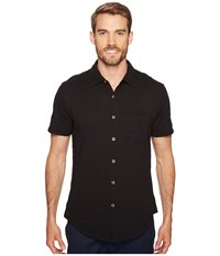 Mod O Doc Montana Short Sleeve Button Front Shirt Black Short Sleeve Button Up