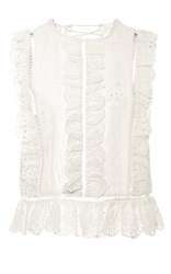 Zimmermann Valour Broderie Anglaise Top White