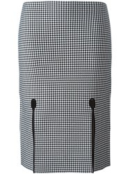 Alexander Wang Houndstooth Pencil Skirt Black