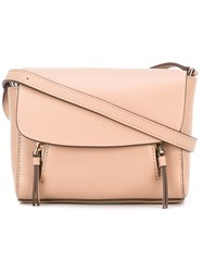 Dkny Flap Shoulder Bag Women Leather One Size Nude Neutrals