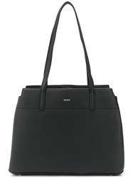 Dkny Logo Shopper Tote Black