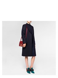 Paul Smith Women's Navy 'A Coat To Travel In' Wool Epsom Coat Blue