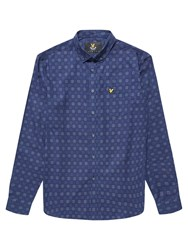 Lyle And Scott Long Sleeve Textured Check Shirt Navy