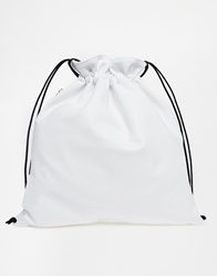 Whistles Drawstring Backpack In White Offwhite