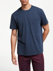 John Lewis Slub Cotton Pocket Lounge T Shirt Navy