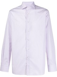 Canali Long Sleeved Striped Shirt 60