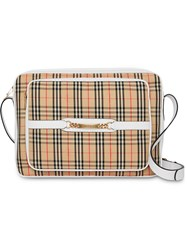 Burberry The Large 1983 Check Link Camera Bag Neutrals