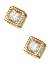 14Th And Union Cubic Zirconia Cube Stud Earrings Metallic