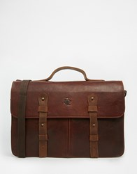Lyle And Scott Leather Satchel Brown