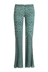 Anna Sui Daydreamer Printed Flares Green