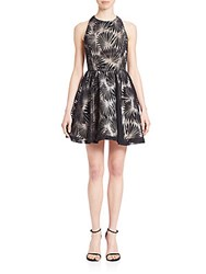 Alice Olivia Racerback Fit And Flare Party Dress Black Bone