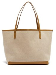 The Row Park Canvas Tote Bag Tan Multi