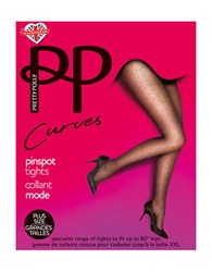 Pretty Polly Curves Dotted Tights Black
