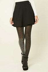 Forever 21 Semi Sheer Shimmery Tights Black Silver