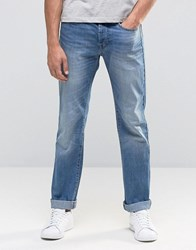 United Colors Of Benetton Light Wash Distressed Jeans In Regular Fit Light Blue 902