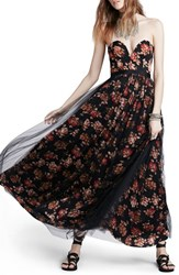 Women's Free People Floral Print Plunge Gown
