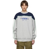 Maison Kitsune Grey Ader Error Edition Layout Sweatshirt