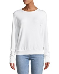 Bailey 44 Bardot Lace Up Back Pullover Sweatshirt White