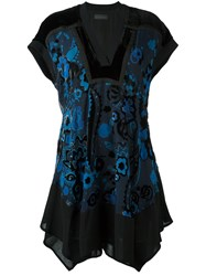 Diesel Black Gold Floral Print Dress Black