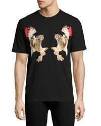 Neil Barrett Mirrored Owl Print T Shirt Black