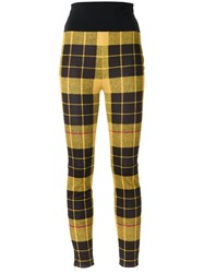 Gloria Coelho Knit Skinny Trousers Yellow Orange