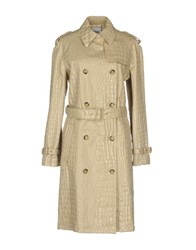 Moschino Cheap And Chic Overcoats Beige