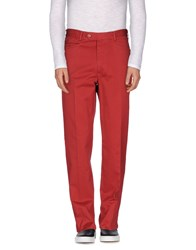 Burberry London Trousers Casual Trousers Men Red