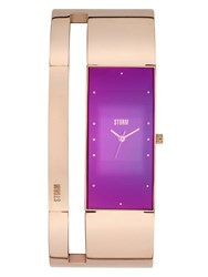 Storm Alvara Rose Gold Purple Watch Rose Gold