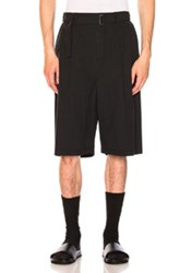 3.1 Phillip Lim Relaxed Pleated Shorts With Belt In Blue