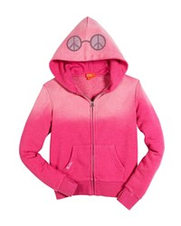 Butter Shoes Peace And Music Burnout Fleece Zip Hoodie Pink