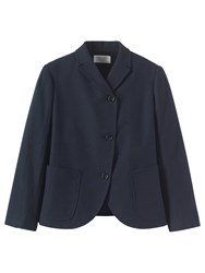 Toast Wool Cotton Flannel Jacket Navy