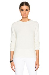 Nicholas Angora Roll Neck Sweater In White