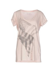 Guess Topwear T Shirts Women Light Pink