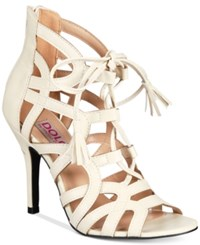 Mojo Moxy Dolce By Karachi Lace Up Sandals Women's Shoes Cream