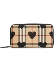 Burberry Horseferry Check And Hearts Wallet Black