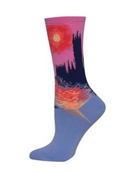 Hot Sox Parliament At Sunset Printed Socks Periwinkle